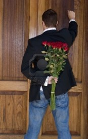romantic knocking on door