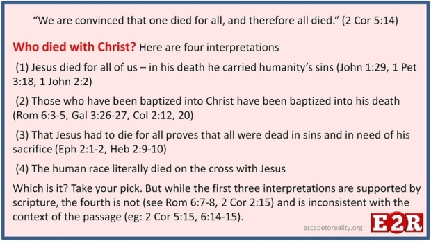 Who died with Christ