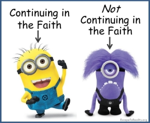 continuing in the faith