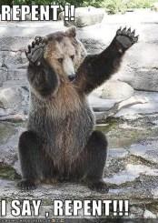 repentance bear