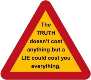 Truth v lie