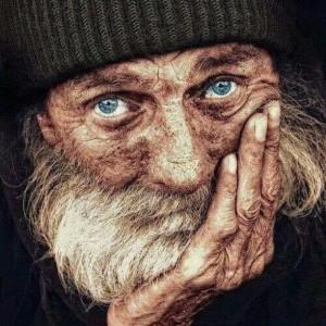 blue-eyed man