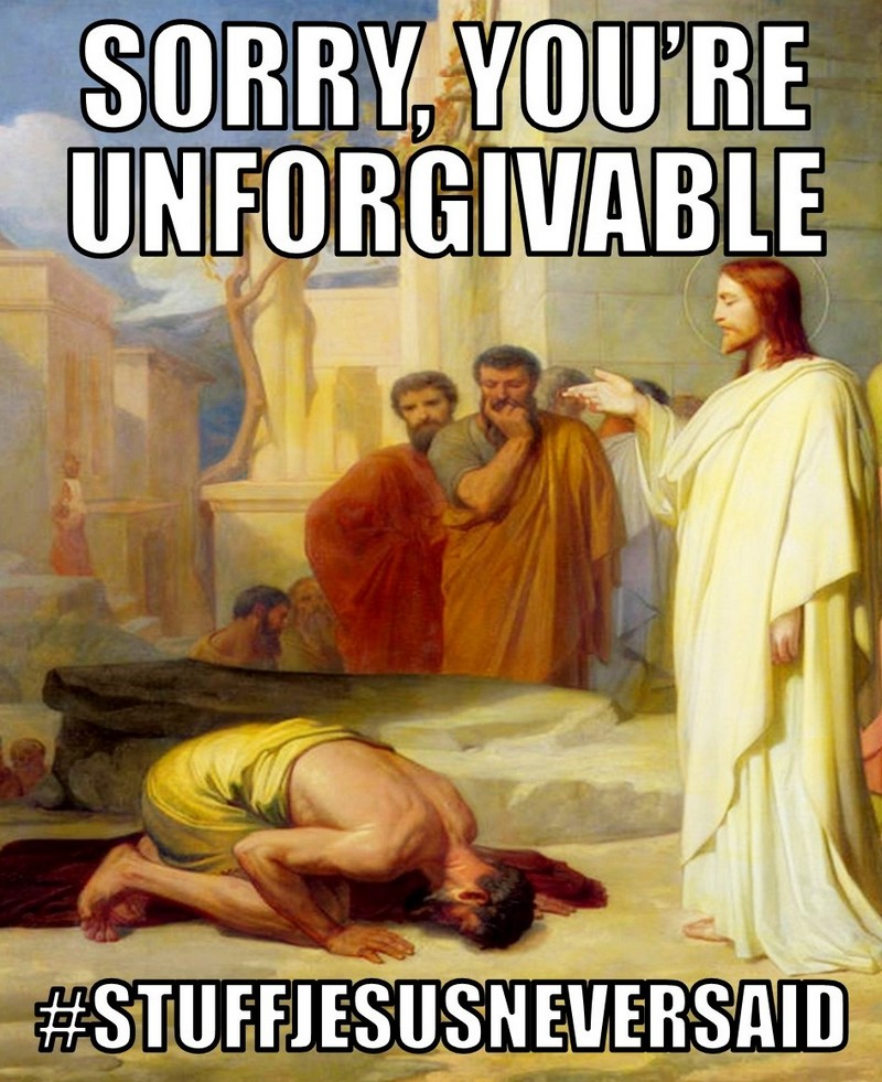 the search for undpardonable sin Is suicide the unpardonable sin people often answer yes to this question because suicide leaves no room for repentance a person enters eternity with unconfessed and therefore unforgiven sin but nowhere does the bible say that suicide is an unforgiveable or unpardonable sin.